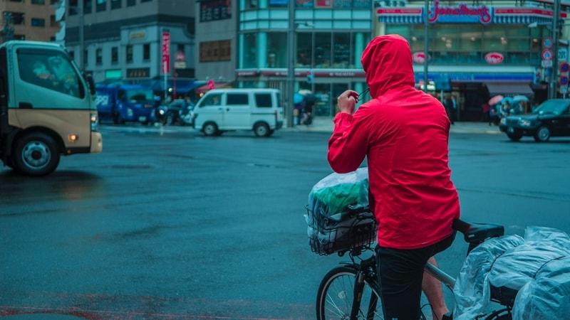 ubranie przeciwdeszczowe na rower